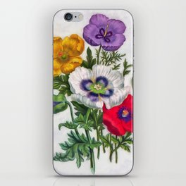 Colorful poppies iPhone Skin