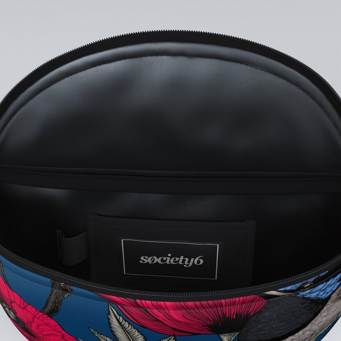 Fairy wren and poppies Fanny Pack