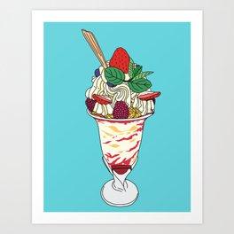 Strawberry Sundae Art Print