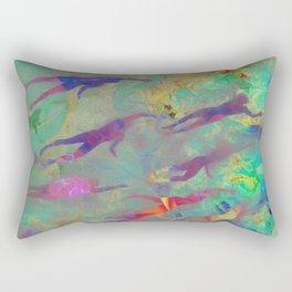Swimmers Rectangular Pillow