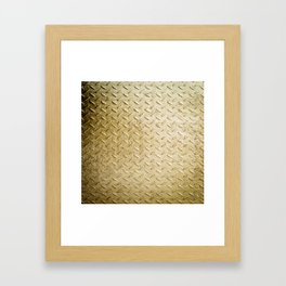 Gold Painted Metal Stylish Design Framed Art Print
