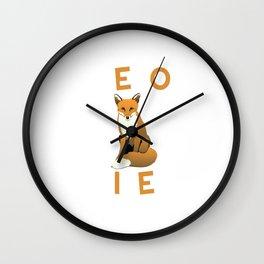 Zero Foxes Given Funny Fox T-shirt Wall Clock