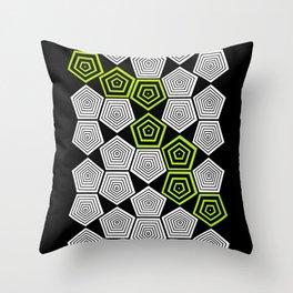 Colour Pop Pentagons - Lime Green Throw Pillow