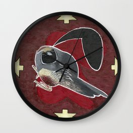 Beatrice the Quail Wall Clock