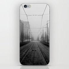 Foggy tramtracks iPhone & iPod Skin