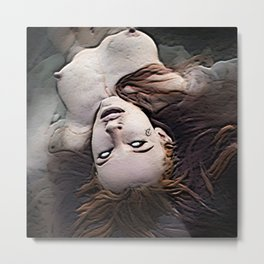 Salem Witch Dead In the Water Metal Print