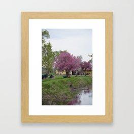 Placidity Along Highway 97 Framed Art Print