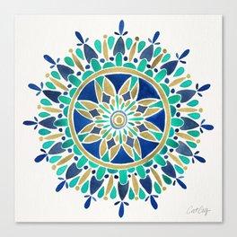 Mandala – Gold & Turquoise Canvas Print