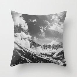 Everest base camp Throw Pillow