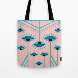 Unamused Eyes - Art Deco Tote Bag