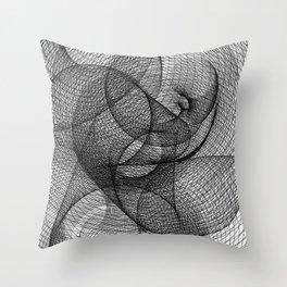 Spiral - White BG. Throw Pillow