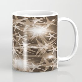 stars brown white elegant modern pattern Coffee Mug