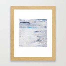 Silver Leaf Frozen with Teal Framed Art Print