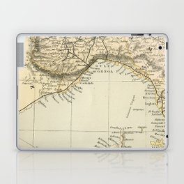 Vintage Retro Map Northern Italy Laptop & iPad Skin