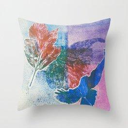Print Bird & Leaf Throw Pillow