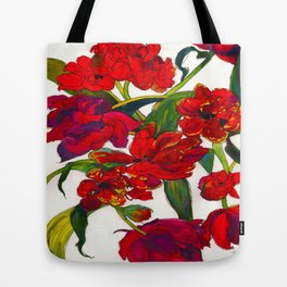 Inky Tulips Tote Bag