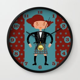 Kilt from Scotland! Wall Clock