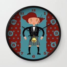 Kilt from Scotland! Wall Clock