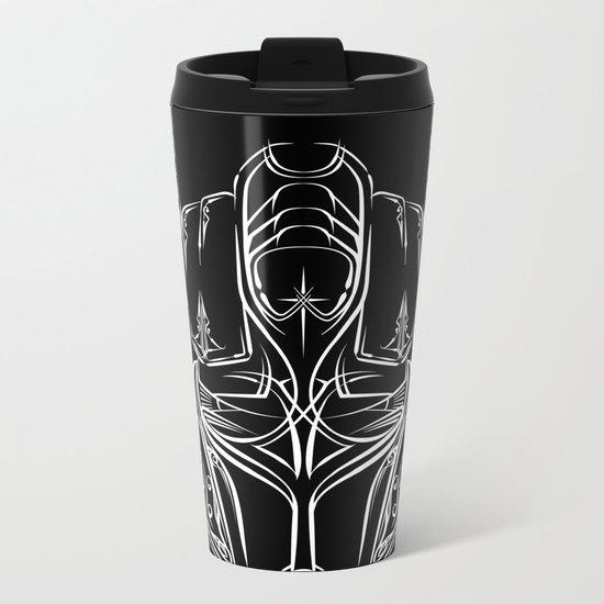 Pinstripe Prime Metal Travel Mug