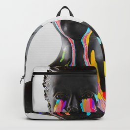The Girl With Stars In Her Eyes (On White) Backpack