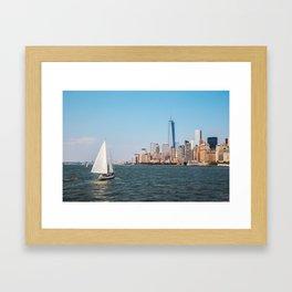 New York City Sailing Framed Art Print
