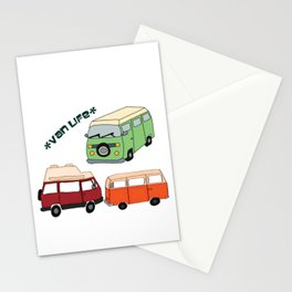 Van Life Camping Traveling Art Stationery Cards