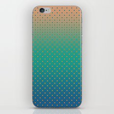Polka Plankton Blue iPhone & iPod Skin