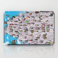 climbing iPad Cases featuring Bubble climbing by Caiocomix