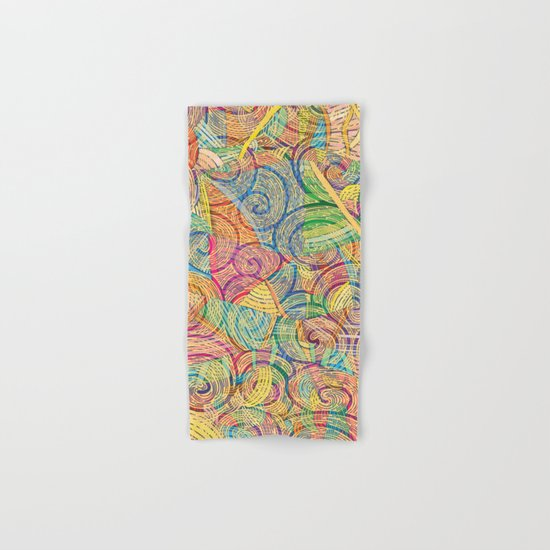 Colorful pattern (a little geometry) Hand & Bath Towel