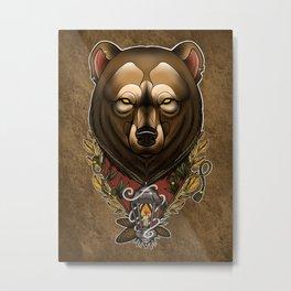 Bearly Strange Metal Print