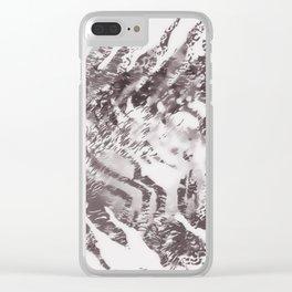 tiger skin monochrome Clear iPhone Case
