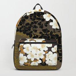 Japanese Sumi Black and White Cherry Blossom Rucksack