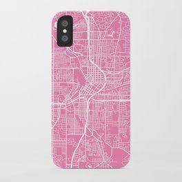 Atlanta map pink iPhone Case