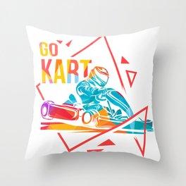 Karting Go-Kart track Racing Kart Karting Driving Throw Pillow