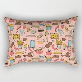 Food Frenzy pink Rectangular Pillow