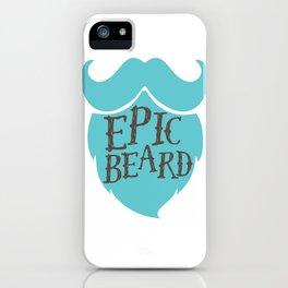 Epic Beard baby blue iPhone Case