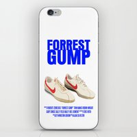 forrest gump iPhone & iPod Skins featuring Forrest Gump Movie Poster by FunnyFaceArt