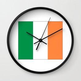 Irish flag -ireland,eire,airlann,irish,gaelic,eriu,celtic,dublin,belfast,joyce,beckett Wall Clock