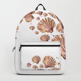 Heart of sea shells Backpack