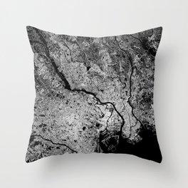 Tokyo map Throw Pillow