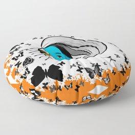 Silence of the Smurfs Floor Pillow