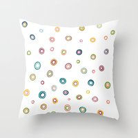 happiness Throw Pillows featuring Happiness by Shakkedbaram