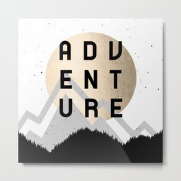Adventure Golden Sunrise Metal Print