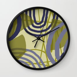 Round lines geometric pattern Design Wall Clock