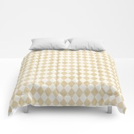 Chic Gold & Ivory Harlequin Pattern Comforters