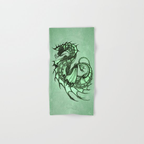 Tsunami Sea Dragon ~ Jade Hand & Bath Towel