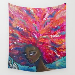 Voice it Girl Wall Tapestry