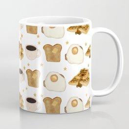 Breakfast Time Pattern on (Egg) White Coffee Mug