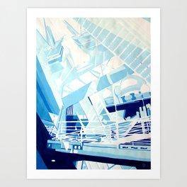 "''Urban Bridges"" by Diana Grigoryeva Art Print"
