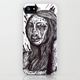 Swamp Girl uncolored  iPhone Case